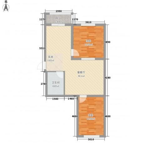 南山秀水2室1厅1卫0厨62.07㎡户型图