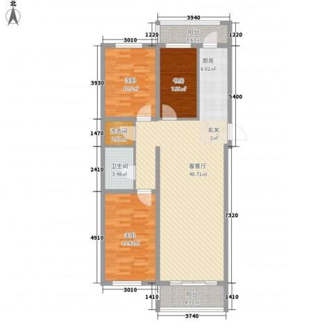 南山秀水3室1厅1卫0厨84.68㎡户型图