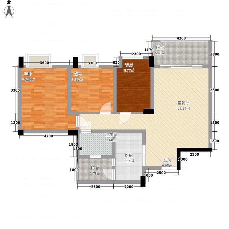 农商行・春天广场311.48㎡A户型3室2厅1卫1厨
