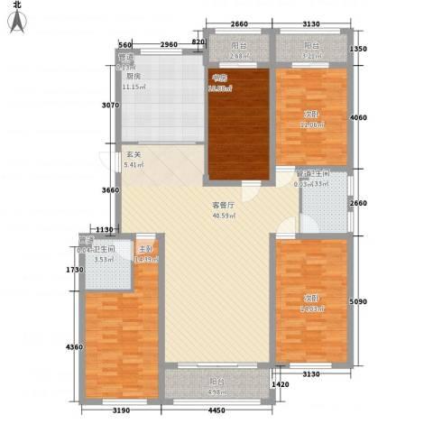 盛和湾4室1厅2卫1厨172.00㎡户型图