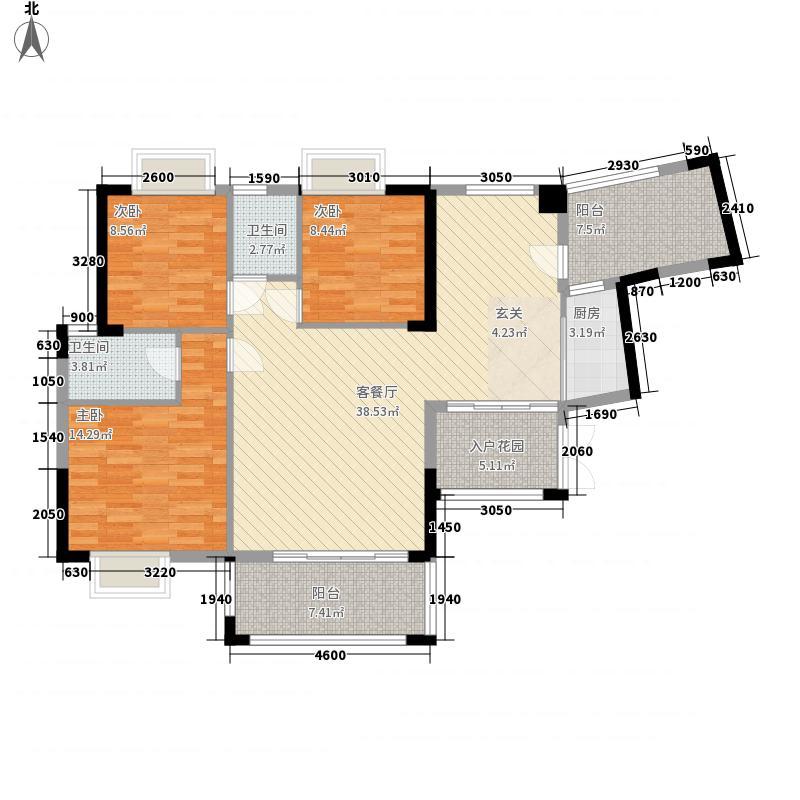 华城国际2121.67㎡9栋02户型3室2厅2卫1厨