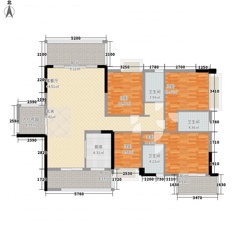 富丽名苑183.15㎡T3#-02/03户型4室2厅3卫1厨