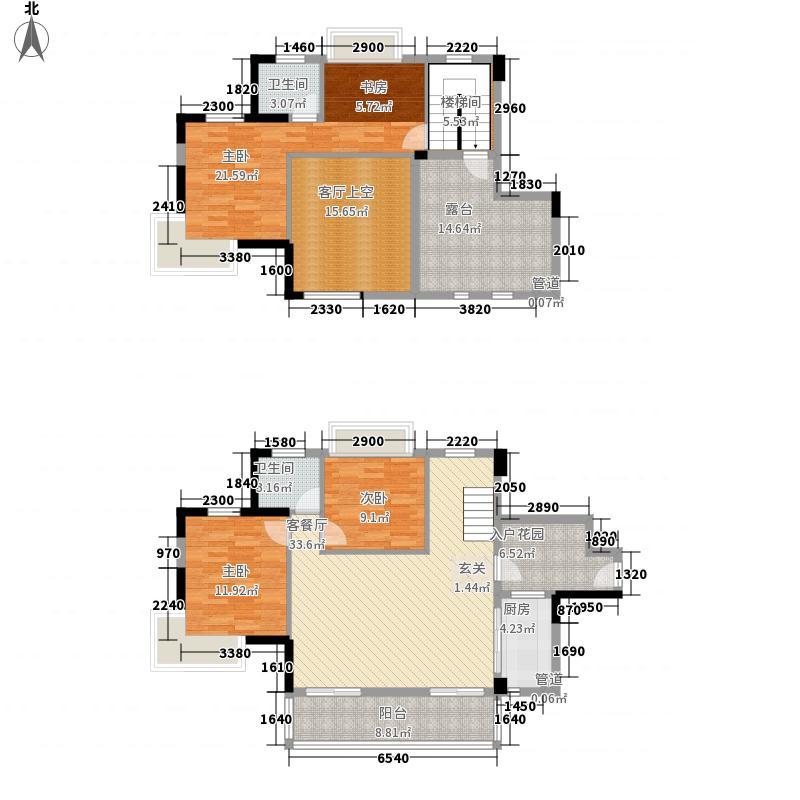 裕丰英伦148.00㎡7#楼K11复式户型4室2厅2卫1厨