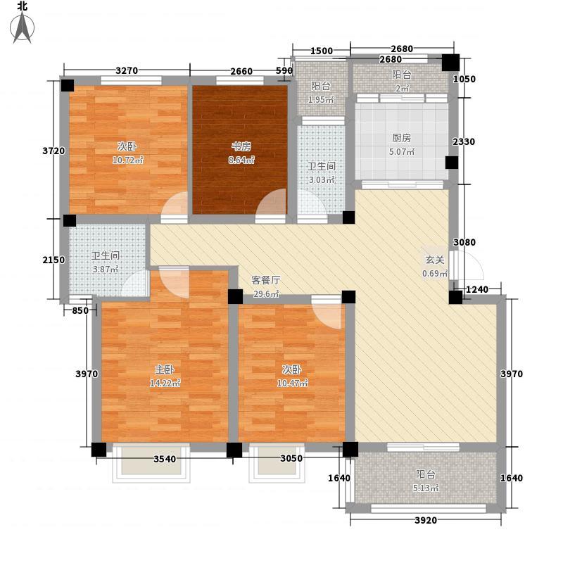 鑫桥康郡138.00㎡D户型4室2厅2卫1厨