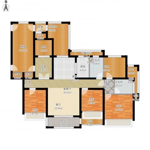 凯瑞米兰公馆4室1厅2卫1厨215.00㎡户型图