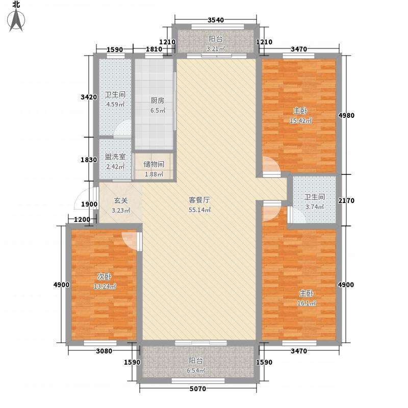 阳光新城181.11㎡J2户型3室2厅2卫1厨