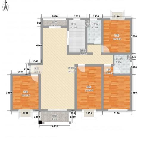 平江盛世家园4室1厅2卫1厨147.00㎡户型图