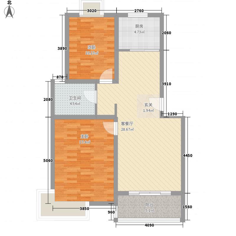 长城花园・领世湖城_092001041_2户型2室2厅1卫1厨