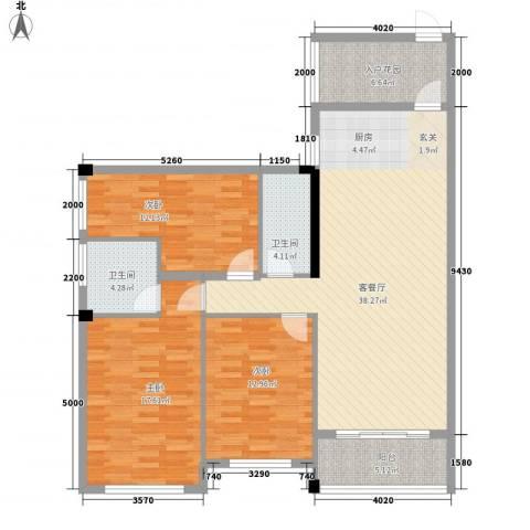 壮龙・幸福新城3室1厅2卫0厨312.00㎡户型图