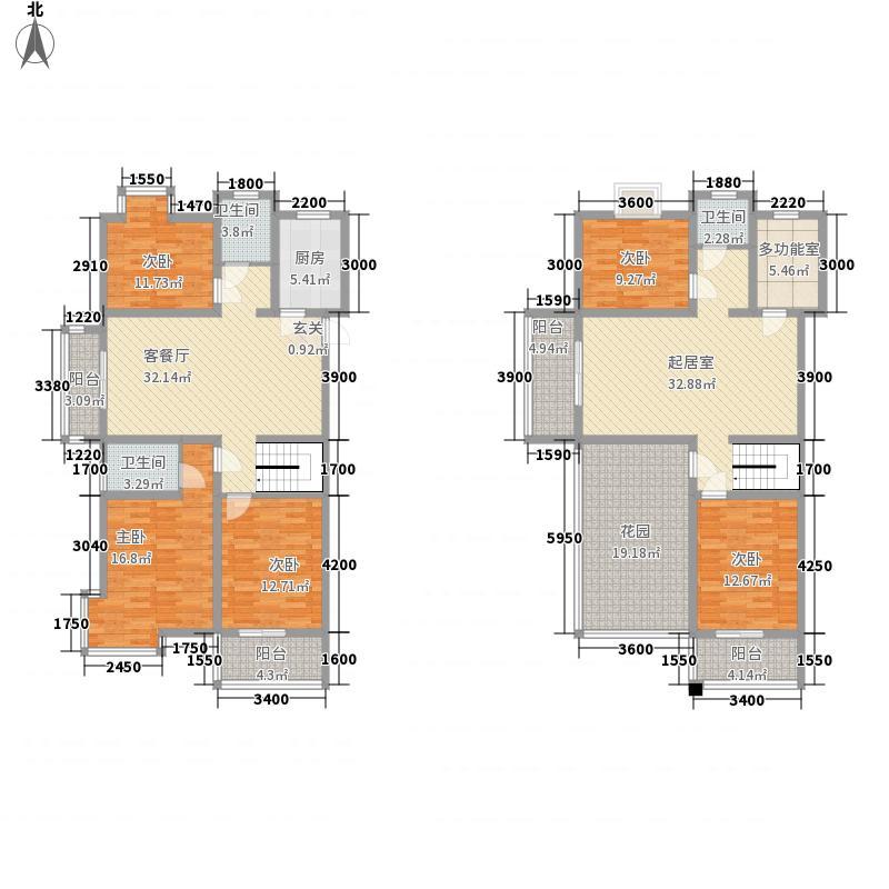 书香茗苑22.00㎡C复式户型6室3厅3卫1厨