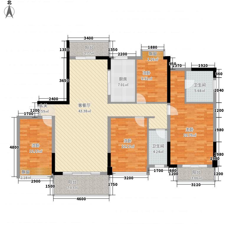 富丽名苑162.15㎡T1/T2#-01/02户型4室2厅2卫1厨