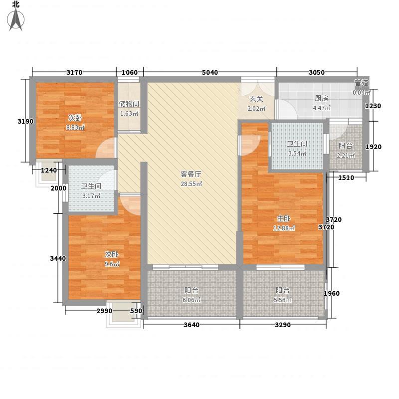 瑞阳豪庭户型3室2厅2卫