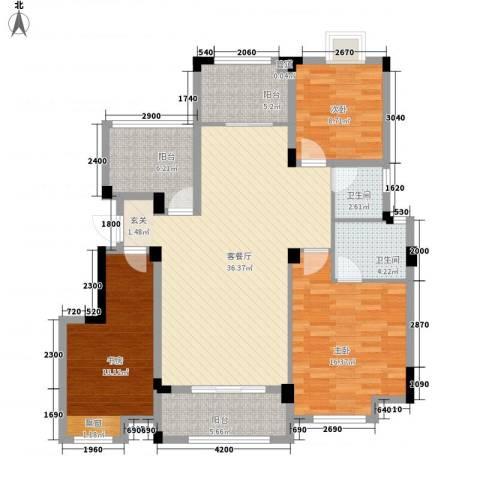 金鹏・爱丽舍宫3室1厅2卫0厨98.51㎡户型图