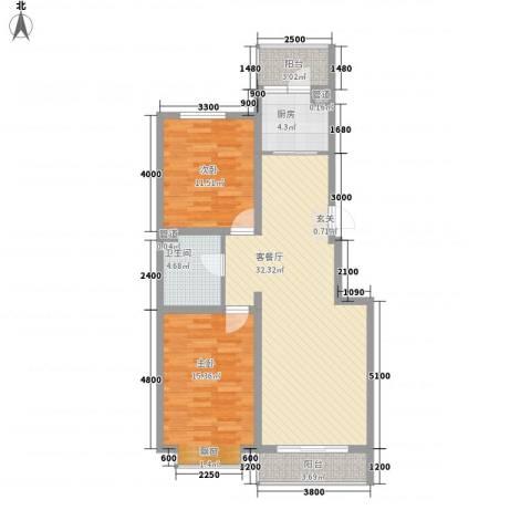 上第LOHAS2室1厅1卫1厨107.00㎡户型图