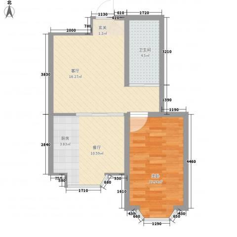 世豪领秀1室2厅1卫0厨62.00㎡户型图