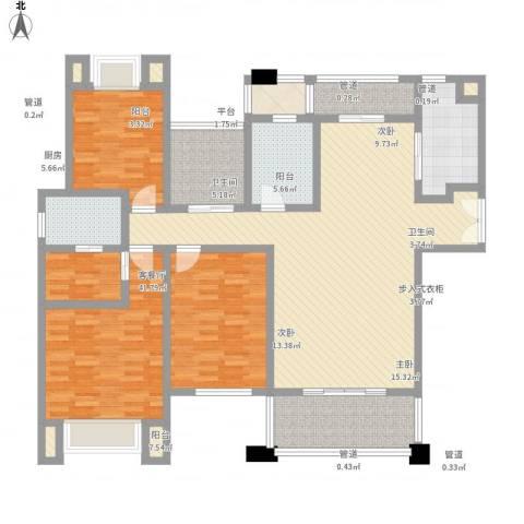 莱蒙水榭春天3室1厅2卫1厨175.00㎡户型图