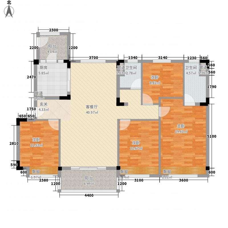 台山碧桂园14.00㎡【繁华里】YJ140户型4室2厅2卫1厨