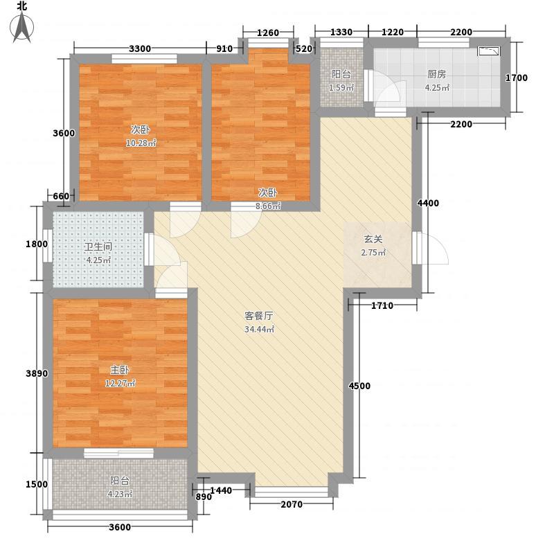 先河西区・泉上花间111.12㎡5#11112户型3室2厅1卫1厨