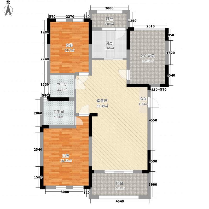 香滨国际117.70㎡F1户型2室2厅2卫1厨