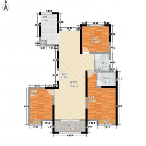 新洲・欧洲城3室1厅2卫1厨105.29㎡户型图
