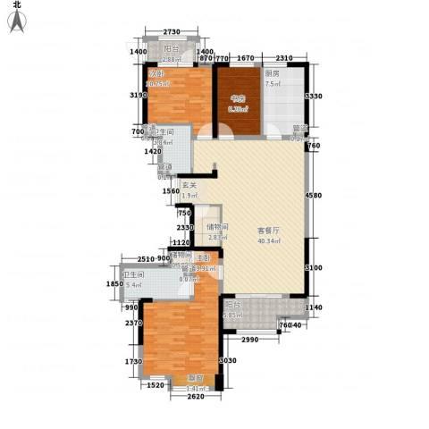 新洲・欧洲城3室1厅2卫1厨155.00㎡户型图
