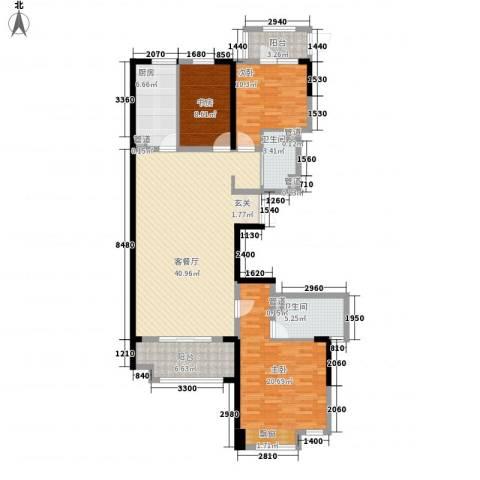 新洲・欧洲城3室1厅2卫1厨152.00㎡户型图