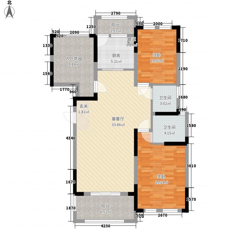 香滨国际17.32㎡F3双卫户型2室2厅2卫