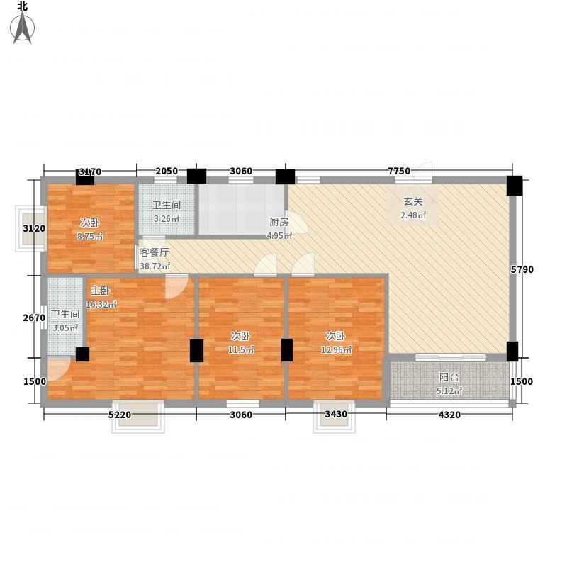 祥和新村A#标准层A1户型4室2厅2卫1厨