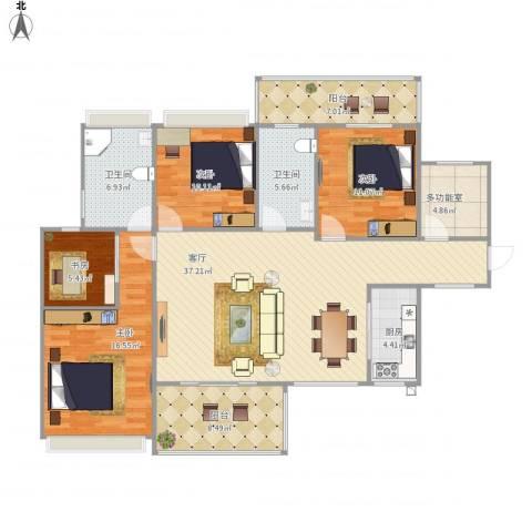 中洋公园首府4室1厅2卫1厨159.00㎡户型图