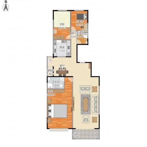 凤凰新城3室1厅2卫1厨185.00㎡户型图