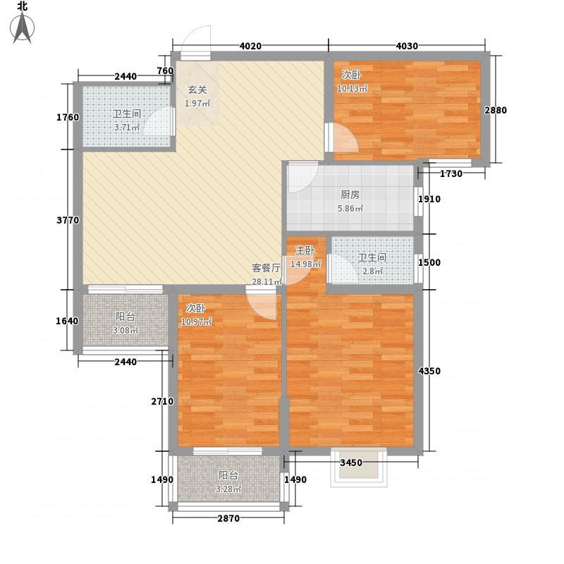 城南中心区117.45㎡C_副本户型3室2厅2卫1厨