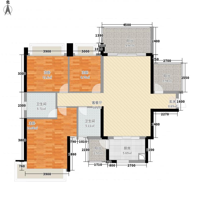 鑫炎・凤凰城141.22㎡(12)户型3室2厅2卫1厨