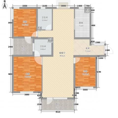 水云花园・南开区3室1厅2卫1厨273.00㎡户型图