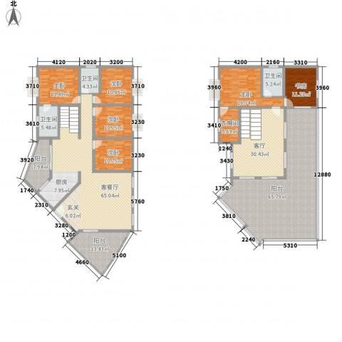 十里江南6室2厅3卫0厨277.24㎡户型图