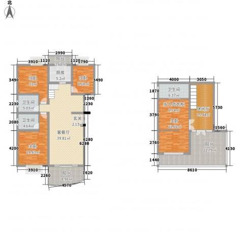 十里江南4室1厅3卫1厨177.00㎡户型图