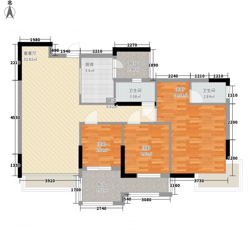 理想家园128.00㎡理想家园户型图怡安阁8栋偶数层02单位3室2厅2卫1厨户型3室2厅2卫1厨