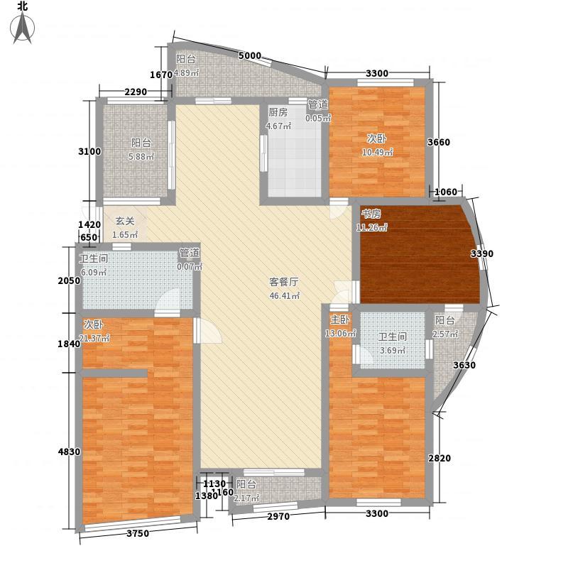 阳湖名城193.00㎡Gg户型4室2厅2卫1厨