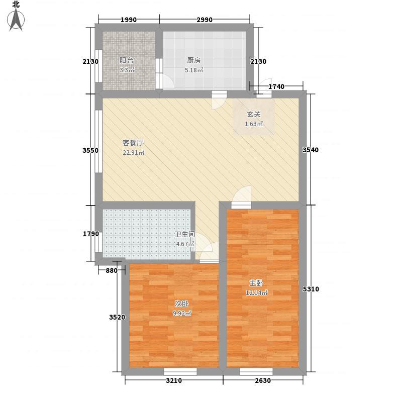枫蓝国际56.79㎡枫蓝国际户型图5-8号楼G户型2室1厅1卫1厨户型2室1厅1卫1厨