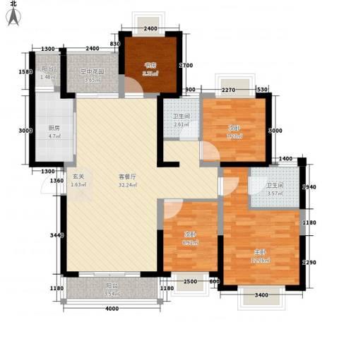 创森财富中心4室1厅2卫1厨118.00㎡户型图