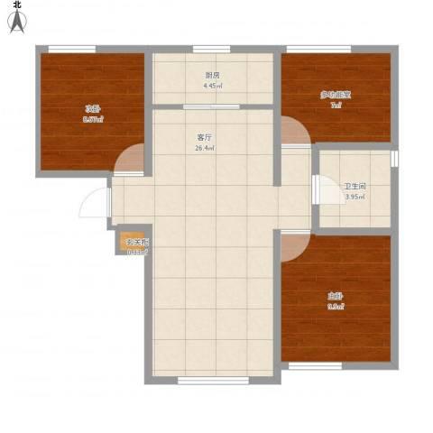 中海八里臺2室1厅1卫1厨85.00㎡户型图
