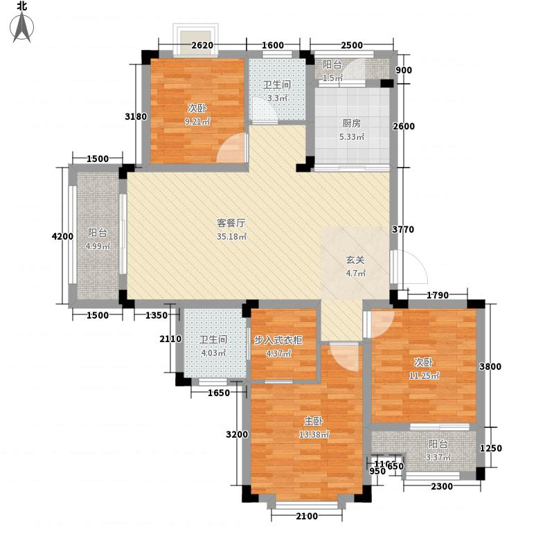 罗湖山庄116.73㎡A户型3室2厅2卫1厨