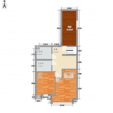 圣罗伦斯3室0厅2卫0厨64.57㎡户型图