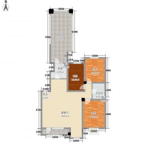 丰远・泗水玫瑰城3室1厅1卫1厨118.00㎡户型图