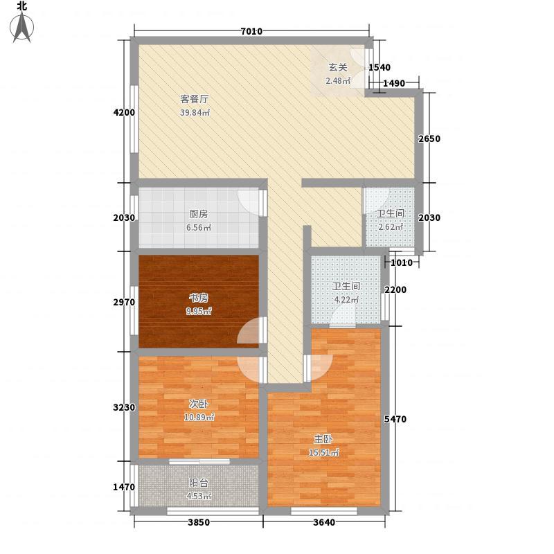 皇家一里13134.88㎡A1户型3室2厅2卫1厨