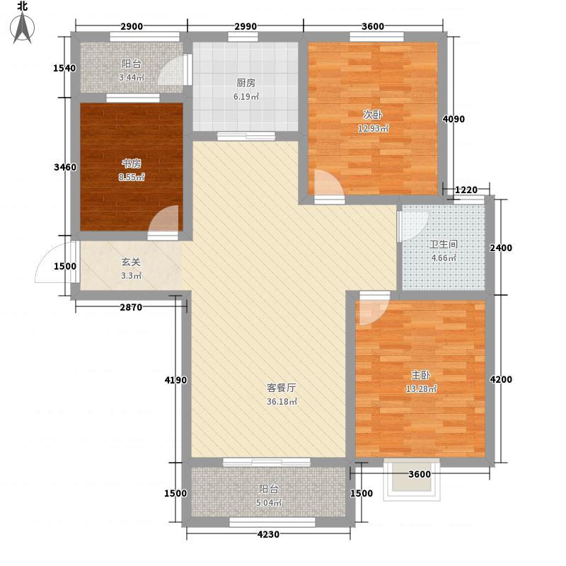 科瑞・瑞香苑12.00㎡A1户型3室2厅1卫
