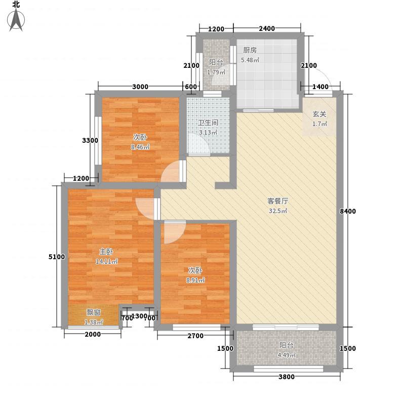 和平壹�38115.22㎡A3-户型3室2厅1卫1厨