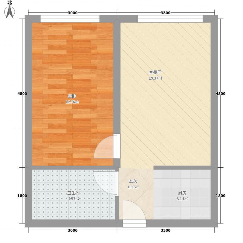 同德社区户型1室