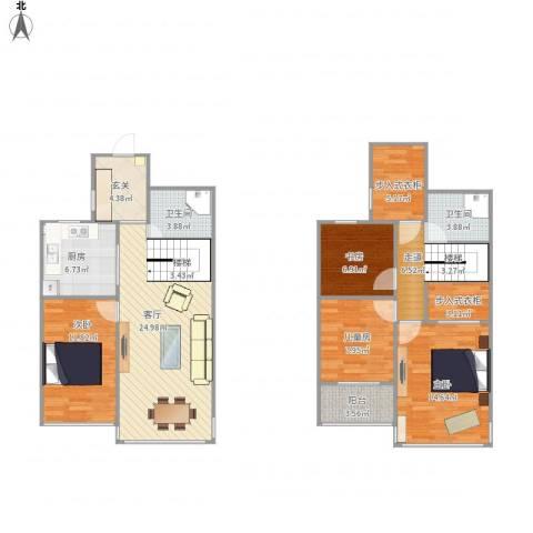 绿城桃源小镇4室1厅2卫1厨141.00㎡户型图