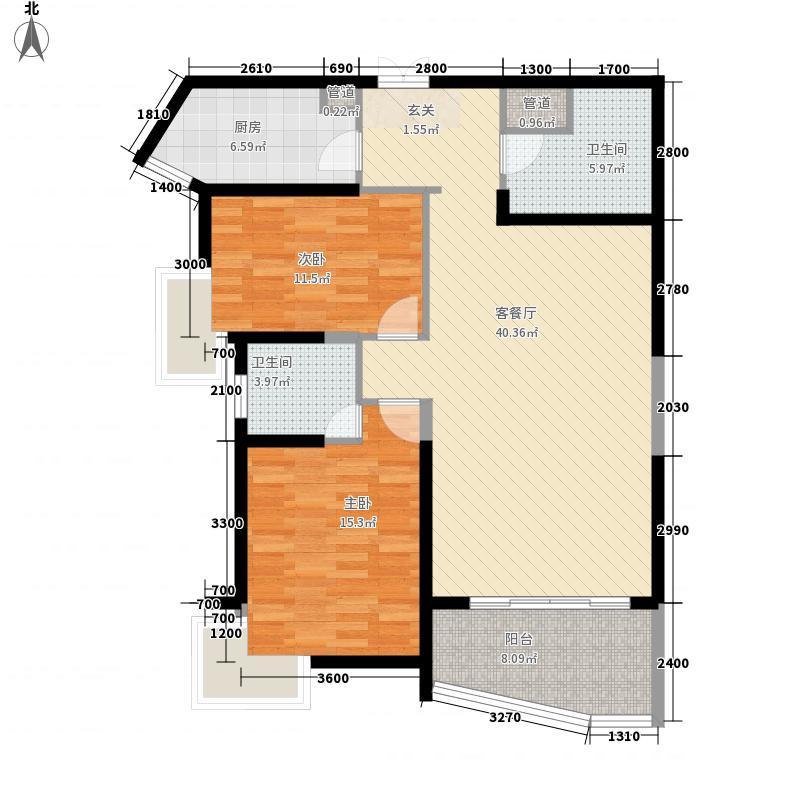 良志嘉年华134.31㎡C户型2室2厅2卫1厨