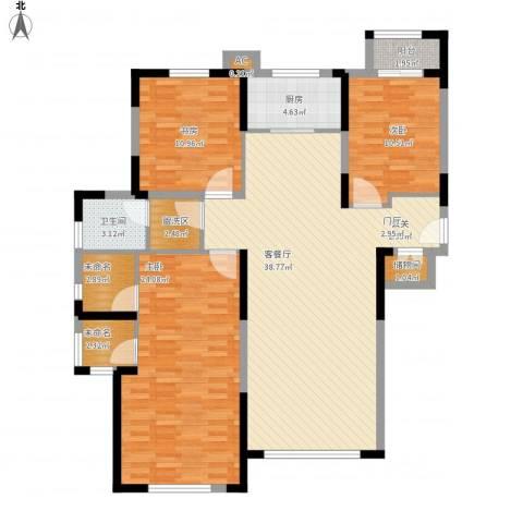 天朗大兴郡3室1厅1卫1厨150.00㎡户型图